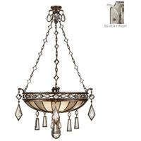 Fine Art Lamps 728540-3ST Encased Gems 3 Light 35 inch Silver Pendant Ceiling Light