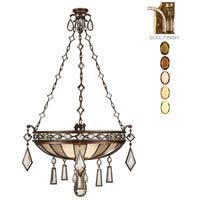 Fine Art Lamps 728640-1ST Encased Gems 3 Light 35 inch Gold Pendant Ceiling Light