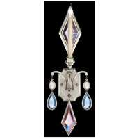 Fine Art Lamps Encased Gems 1 Light Sconce in Vintage Silver Leaf 728750-1ST