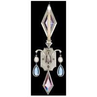 Fine Art Lamps 728750-1ST Encased Gems 1 Light 9 inch Silver Wall Sconce Wall Light