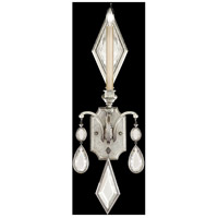 Fine Art Lamps Encased Gems 1 Light Sconce in Vintage Silver Leaf 728750-3ST