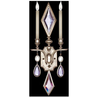 Fine Art Lamps Encased Gems 2 Light Sconce in Vintage Silver Leaf 729050-1ST