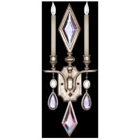 Fine Art Lamps 729050-1ST Encased Gems 2 Light 12 inch Silver Wall Sconce Wall Light