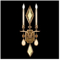 Fine Art Lamps Encased Gems 2 Light Sconce in Variegated Gold Leaf 729150-1ST