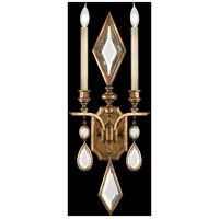 Encased Gems 2 Light 12 inch Variegated Gold Leaf Sconce Wall Light
