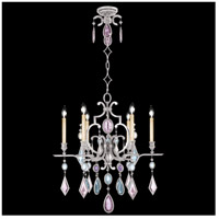 Encased Gems 6 Light 29 inch Vintage Silver Leaf Chandelier Ceiling Light