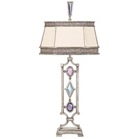 Encased Gems 38 inch 150 watt Silver Table Lamp Portable Light