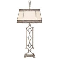 Encased Gems 38 inch 150 watt Vintage Silver Leaf Table Lamp Portable Light