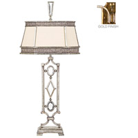 Encased Gems 38 inch 150 watt Variegated Gold Leaf Table Lamp Portable Light