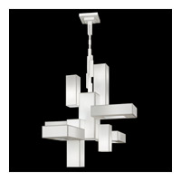 Black + White Story 12 Light 46 inch Studio White Satin Lacquer Chandelier Ceiling Light