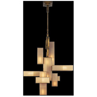 Perspectives 12 Light 46 inch Patinated Golden Bronze Chandelier Ceiling Light