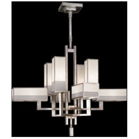 Fine Art Lamps 733840-2ST Perspectives 8 Light 42 inch Silver Chandelier Ceiling Light
