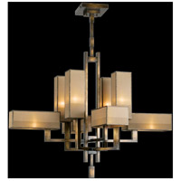 Perspectives 8 Light 42 inch Patinated Golden Bronze Chandelier Ceiling Light