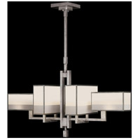 Fine Art Lamps 734040-2ST Perspectives 6 Light 42 inch Silver Chandelier Ceiling Light