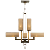 Perspectives 8 Light 45 inch Patinated Golden Bronze Chandelier Ceiling Light