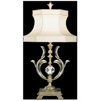 Fine Art Lamps Beveled Arcs 1 Light Table Lamp in Warm Muted Silver Leaf 737510ST