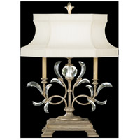 Fine Art Lamps Beveled Arcs 1 Light Table Lamp in Warm Muted Silver Leaf 737910ST