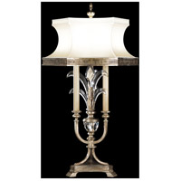 Beveled Arcs 37 inch 60 watt Muted Silver Leaf Table Lamp Portable Light