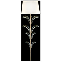 Fine Art Lamps Beveled Arcs 1 Light Sconce in Muted Silver Leaf 738450ST