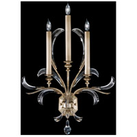 Fine Art Lamps Beveled Arcs 3 Light Sconce in Muted Silver Leaf 738550ST photo thumbnail