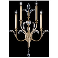 Beveled Arcs 4 Light 26 inch Muted Silver Leaf Sconce Wall Light