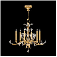 Fine Art Lamps 739140-SF3 Beveled Arcs 6 Light 37 inch Gold Leaf Chandelier Ceiling Light