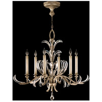 Fine Art Lamps Beveled Arcs 6 Light Chandelier in Muted Silver Leaf 739140ST