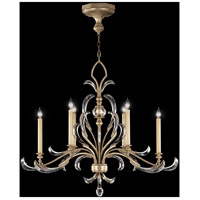 Fine Art Lamps Beveled Arcs 6 Light Chandelier in Muted Silver Leaf 739240ST