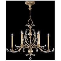 Fine Art Lamps 739240ST Beveled Arcs 6 Light 44 inch Silver Chandelier Ceiling Light