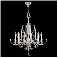 Fine Art Lamps 739640-SF4 Beveled Arcs 16 Light 58 inch Silver Leaf Chandelier Ceiling Light
