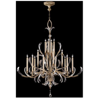 Beveled Arcs 16 Light 58 inch Muted Silver Leaf Chandelier Ceiling Light
