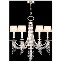 Fine Art Lamps Cascades 6 Light Chandelier in Warm Silver Leaf 748740ST