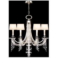 Fine Art Lamps 748740ST Cascades 6 Light 29 inch Silver Chandelier Ceiling Light