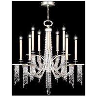 Fine Art Lamps 748840ST Cascades 10 Light 42 inch Silver Chandelier Ceiling Light