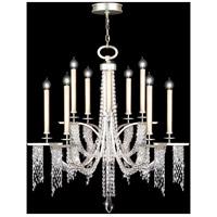 Fine Art Lamps 748840ST Cascades 10 Light 42 inch Silver Chandelier Ceiling Light