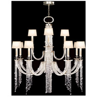 Fine Art Lamps 749040ST Cascades 16 Light 52 inch Warm Silver Leaf Chandelier Ceiling Light