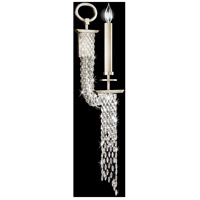 Fine Art Lamps Cascades 1 Light Sconce in Warm Silver Leaf 749850ST