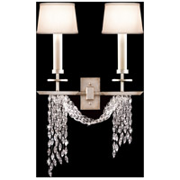 Fine Art Lamps Cascades 2 Light Sconce in Warm Silver Leaf 750450ST