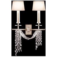 Fine Art Lamps 750450ST Cascades 2 Light 15 inch Silver Wall Sconce Wall Light