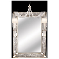 Cascades 58 X 35 inch Warm Silver Leaf Girandole Home Decor, Rectangular