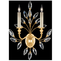 Fine Art Lamps 752350-SF3 Crystal Laurel 2 Light 17 inch Gold Leaf Sconce Wall Light