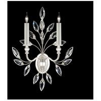 Fine Art Lamps 752350-SF4 Crystal Laurel 2 Light 17 inch Silver Leaf Sconce Wall Light