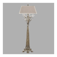 Crystal Laurel 36 inch 60 watt Antiqued Warm Silver Leaf Console Lamp Portable Light