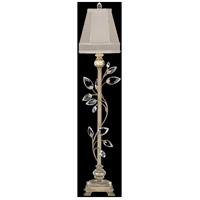 Fine Art Lamps Crystal Laurel 1 Light Console Lamp in Antiqued Warm Silver Leaf 752915ST