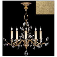 Fine Art Lamps 753040-SF3 Crystal Laurel 5 Light 32 inch Gold Leaf Chandelier Ceiling Light