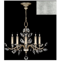 Fine Art Lamps 753040-SF4 Crystal Laurel 5 Light 32 inch Silver Leaf Chandelier Ceiling Light