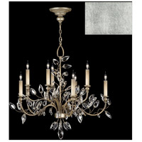 Fine Art Lamps 753140-SF4 Crystal Laurel 10 Light 43 inch Silver Leaf Chandelier Ceiling Light
