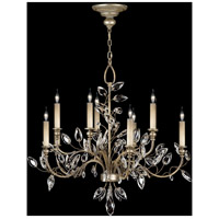 Crystal Laurel 10 Light 43 inch Antique Warm Silver Leaf Chandelier Ceiling Light