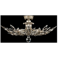 Crystal Laurel 5 Light 29 inch Warm Antiqued Silver Leaf Semi-Flush Mount Ceiling Light