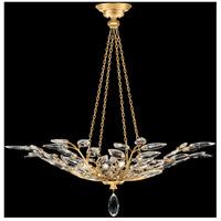 Fine Art Lamps 753640-SF3 Crystal Laurel 4 Light 35 inch Gold Leaf Pendant Ceiling Light